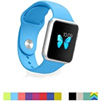 Apple Watch Band - WantsMall Soft Silicone Sport Style Replacement iWatch Strap for 38mm Apple Watch Models