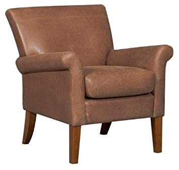 Tremendous The Balmoral Faux Leather Accent Chair Vintage Tan Ocoug Best Dining Table And Chair Ideas Images Ocougorg
