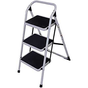 Goplus 3 Step Ladder Folding Heavy Duty Step Stool Anti-slip Platform Sturdy HD Construction  sc 1 st  Amazon.com & StepUp Heavy Duty Steel Reinforced Folding 2 Step Ladder Stool ... islam-shia.org
