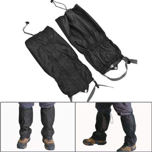 Leg Gaiters Black Waterproof Leg Cover Boot Legging for Outdoor Climbing