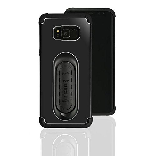 4-in-1 Scooch Clipstic Pro Case for Samsung Galaxy S8 (Black) by Scooch (Image #3)