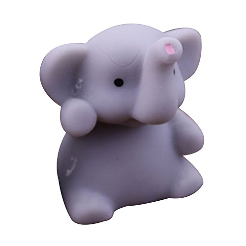 CHoppyWAVE Squeeze Toys Stress Reliever, Cute Squishy Elephant Squeeze Healing Fun Kids Kawaii Toy Stress Reliever Decor - Grey