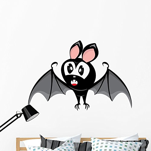 Wallmonkeys Vector Funny Devil Bat Wall Decal Peel and Stick Graphic (48 in H x 48 in W) WM142274 -