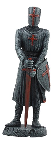 - Ebros Holy Roman Empire Templar Crusader Knight With Sword And Shield Statue 6