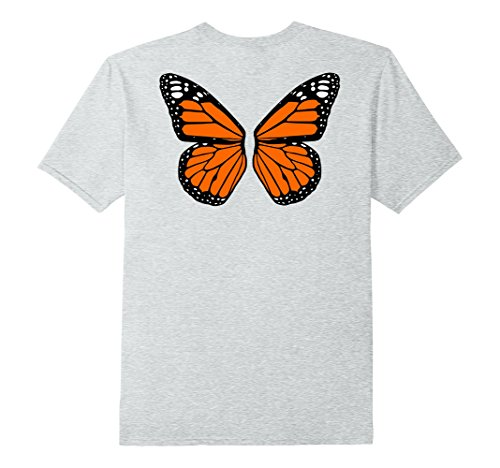 Costume Butterfly Men For (Mens Butterfly Halloween Costume Shirt Large Heather)