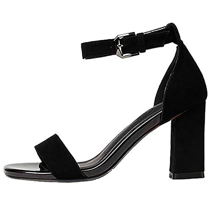 Scarpe E Borse Da Donna Sandali Calaier Capig 6cm Tacco A Blocco Fibbia Calzature