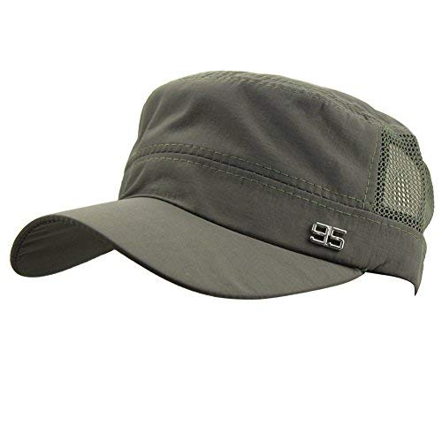 1499e01e0a2 Image Unavailable. Image not available for. Color  Mens Women Summer  Outdoor Sport Army Flat Top Baseball Hat Running ...