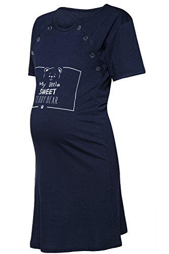 Happy Mama. Para Mujer Camisón Estampado Premamá de Embarazo y Lactancia. 725p Armada