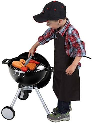 Klein 9466 Barbecue Weber OT Premium | Livré avec de nombreux accessoires dont un charbon sonore et lumineux | Dimensions: 40 cm x 32 cm x 53 cm | Dès 3 ans