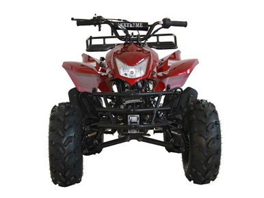 "DONGFANG 125cc ATV Four Wheelers 4 Stroke Engine 8"" Tires Quads for Kids Burgundy"