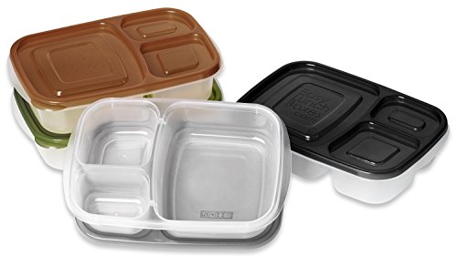 easylunchboxes 3 compartment bento lunch box containers set of 4 urban. Black Bedroom Furniture Sets. Home Design Ideas