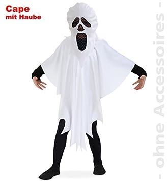 Narrenwelt Geist Cape Haube Halloween Kostüm Gespenst Spook Für