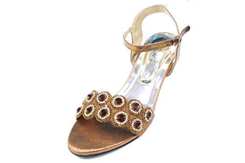 amp; Chaussures Diamante On Soirée Sandales Marron W san 2031 Slip Femmes UBaYUdq