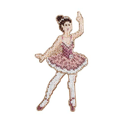 Sugar Plum Fairy Counted Cross Stitch Christmas Ornament Kit Mill Hill 2008 Winter Holiday Nutcracker MH18-8305