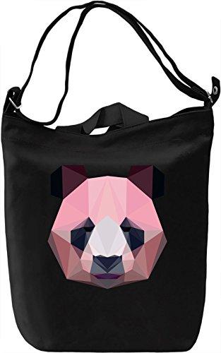 Origami Panda Borsa Giornaliera Canvas Canvas Day Bag| 100% Premium Cotton Canvas| DTG Printing|