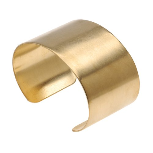Solid Brass Flat Bracelet Piece product image