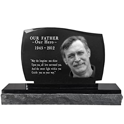 Photo Laser Engraved Garden Stone Memorial- Legacy Headstone: Home & Kitchen