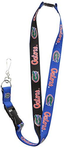 Two-Tone Lanyard, Blue/Black, One Size (Florida Gators Badge Holder)