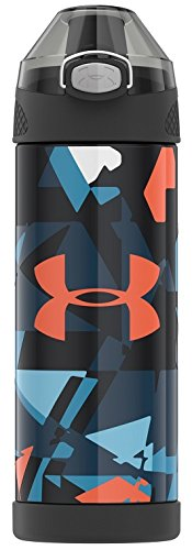 orange Fracture Thermos US4507DS4 Vacuum Insulated SS Bottle 16 Ounce Desert Stripe