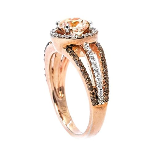 Hmlai Clearance! 1PC Women's Micro Studded Diamond Ring Black Drill Colored Rose Gold Ring Jewelry Gift (9, Rose Gold)