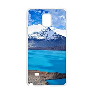Blue Sky And Snow Mountains White Phone Case for Samsung Galaxy Note4
