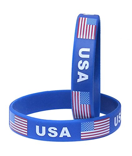 VEWCK World Cup Silicone Wristband, Classic Flag Bracelets 2-Piece Set | 55 Countries Available?Unisex Design, Non-Toxic, Hypoallergenic
