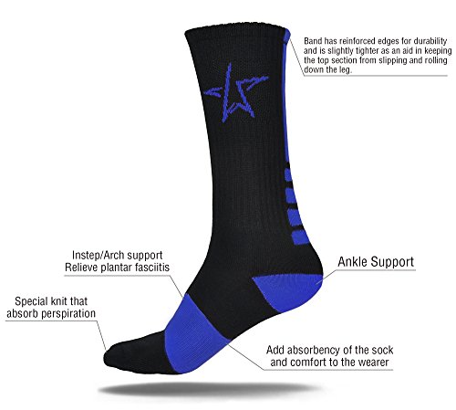 ATHLETIC SOCKS, SPORTS SOCKS By LAX Stars – ELITE SOCKS Dri-Fit Socks Perfect For Sports, Basketball Socks, Soccer Socks, Football Socks, Volleyball Socks, Lacrosse Socks