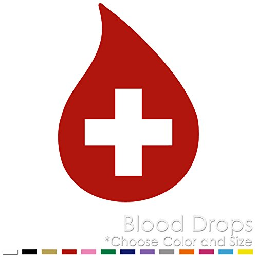 (Blood Drops Donor Red Cross Vinyl Decal Sticker (BD-01))