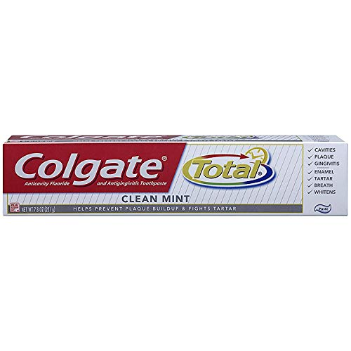 Colgate Total Fluoride Toothpaste Cool Mint, 1.9 oz (Pack of 9) Travel Size TSA Approved by Colgate