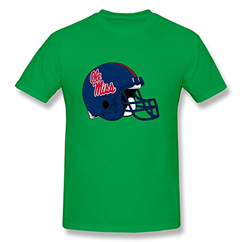 Men's Mississippi Ole Miss Rebels Football Logo T-shirt Size M ForestGreen