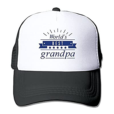 World's Best Grandpa Unisex Adjustable Mesh Snapback Cap Hat from Brecoy