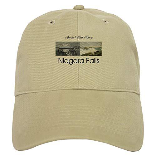 CafePress ABH Niagara Falls Baseball Cap with Adjustable Closure, Unique Printed Baseball Hat Khaki