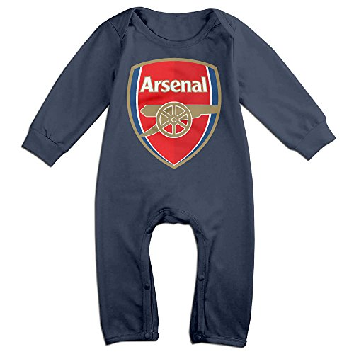 Baby Boys Girls Arsenal Football Club Long Sleeve One-piece Baby Bodysuit Baby Clothes Bodysuit Romper Navy - Bodysuit Bubble Gum
