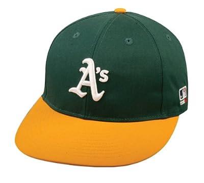 2013 Adult FLAT BRIM Oakland A's Athletics Home Green/Gold Hat Cap MLB Adjustable