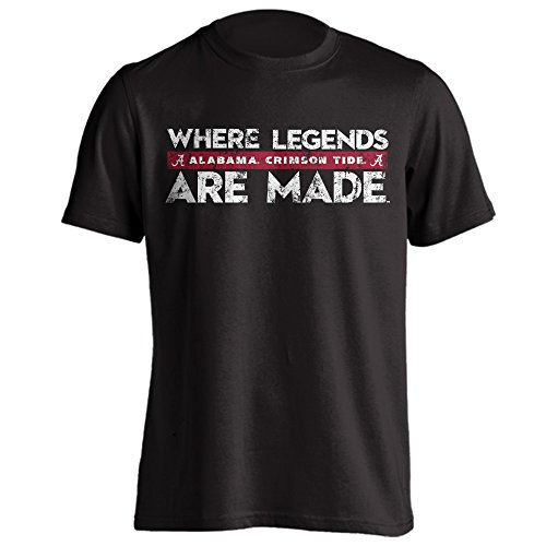 Alabama Crimson Tide Where Legends are Made Adult T-Shirt
