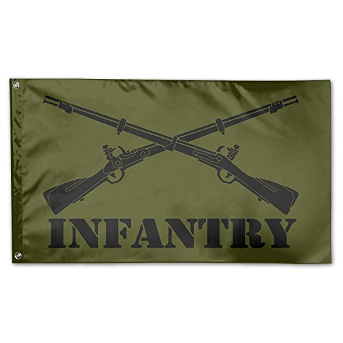 JUMEOW Army Infantry Branch Insignia Outdoor Flags Home Garden Banner Decorative Flags 3X5 Polyester