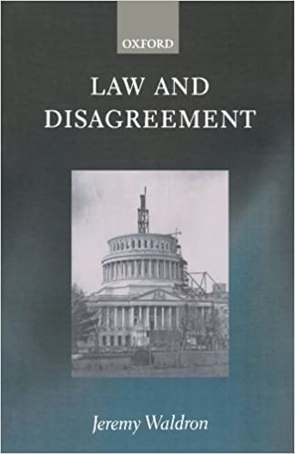 Book's Cover of Law and Disagreement (Inglés) Tapa blanda – 12 abril 1999