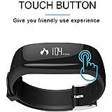 BOND Waterproof Smart Bracelet Pedometer Smart Wristband Sports Fitness Bracelet Steps Tracker For Android IOS Mobile Gift (BLACK)