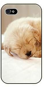 iPhone 4S Sleeping pug - black plastic case / dog, animals, dogs