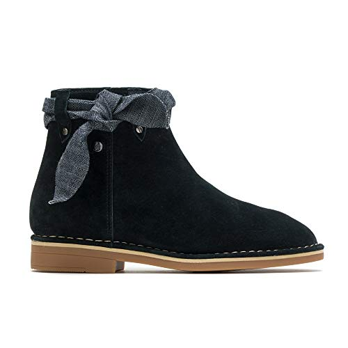 Hush Puppies Catelyn Bow Boot Women 11 Black Suede
