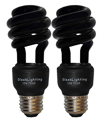 (SleekLighting 13 Watt Spiral CFL Black Bug Light Bulb, 120Volt, E26 Medium Base. (Pack of)