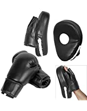 Lions Focus Pads and Gloves Set Boxing MMA Punch BagTraining Hook & Jab Mitts Curved