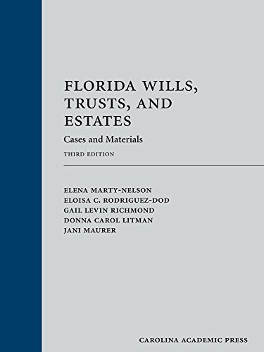 Price comparison product image Florida Wills,  Trusts,  and Estates: Cases and Materials