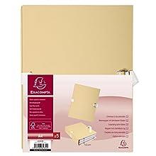 Exacompta 223015E - Pack de 5 carpetas, color beige