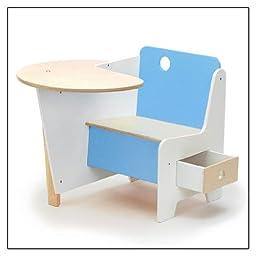 Doodle Drawer Desk (Mini-Drawer Doodle Desk), Color = Blue