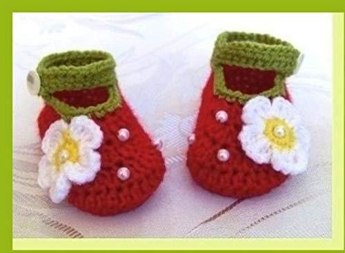 Erdbeere Babyschuhe Babyschuhe Gehäkelt Babyschuhe Häkeln Baby