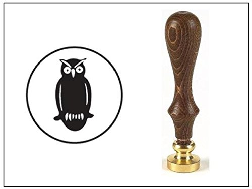 wax-seal-stamp-with-brown-wood-handle-and-round-die-owl