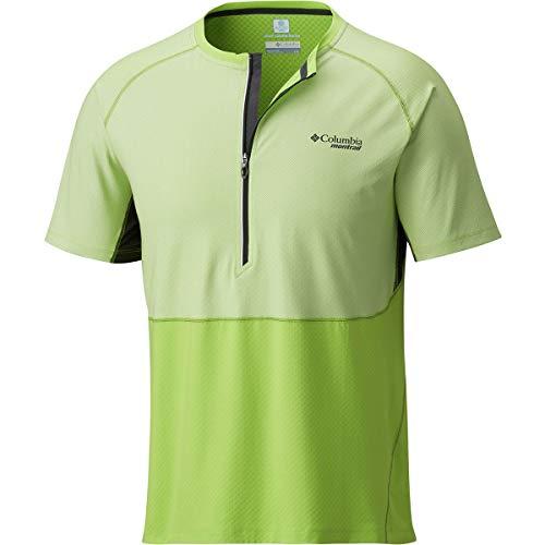 Columbia Men's F.K.T. Short Sleeve Shirt Large Fission