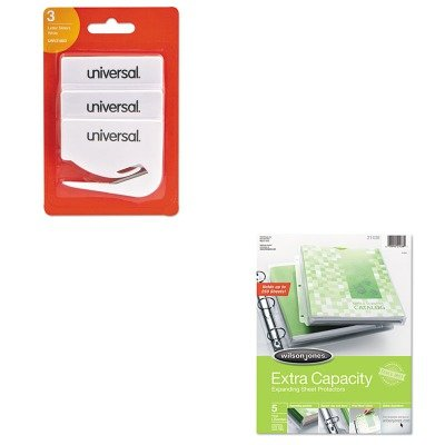 KITUNV31803WLJ21438 - Value Kit - Wilson Jones Extra Capacity Sheet Protector (WLJ21438) and Universal Letter Slitter Hand Letter Opener w/Concealed Blade (UNV31803) ()