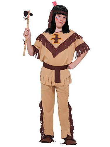 Forum Novelties Native American Brave Costume, Child's (Indian Outfit)